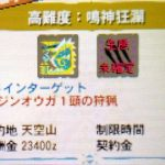 【MH4G】ハンマー攻略プレイ記 VS極限状態ジンオウガ 集G★3番外編