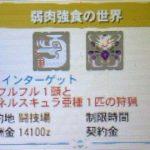 【MH4G】イベントクエスト「弱肉強食の世界」の攻略プレイ記とデータ