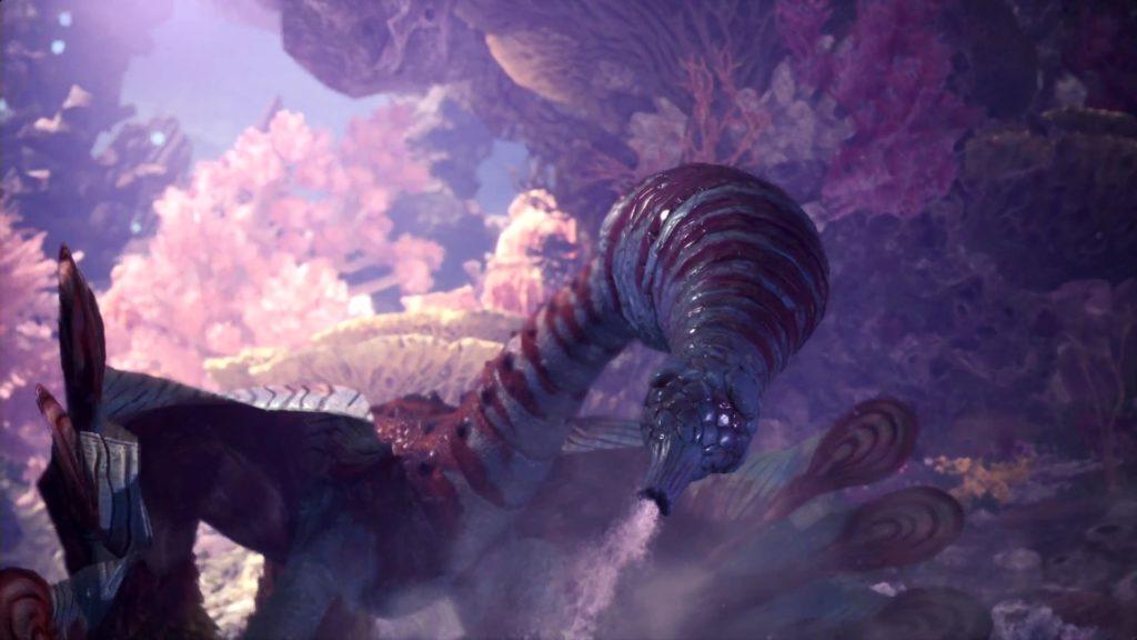 尻尾から水