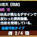 【MH4G】防具「GX荒天シリーズ(剣士用)」のデータ