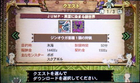 JUMP・黒雷に染まる銀世界