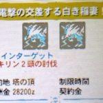 【MH4G】イベントクエスト「電撃の交差する白き稲妻!」の攻略プレイ記とデータ