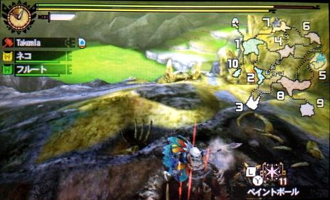地底洞窟エリア7の壁